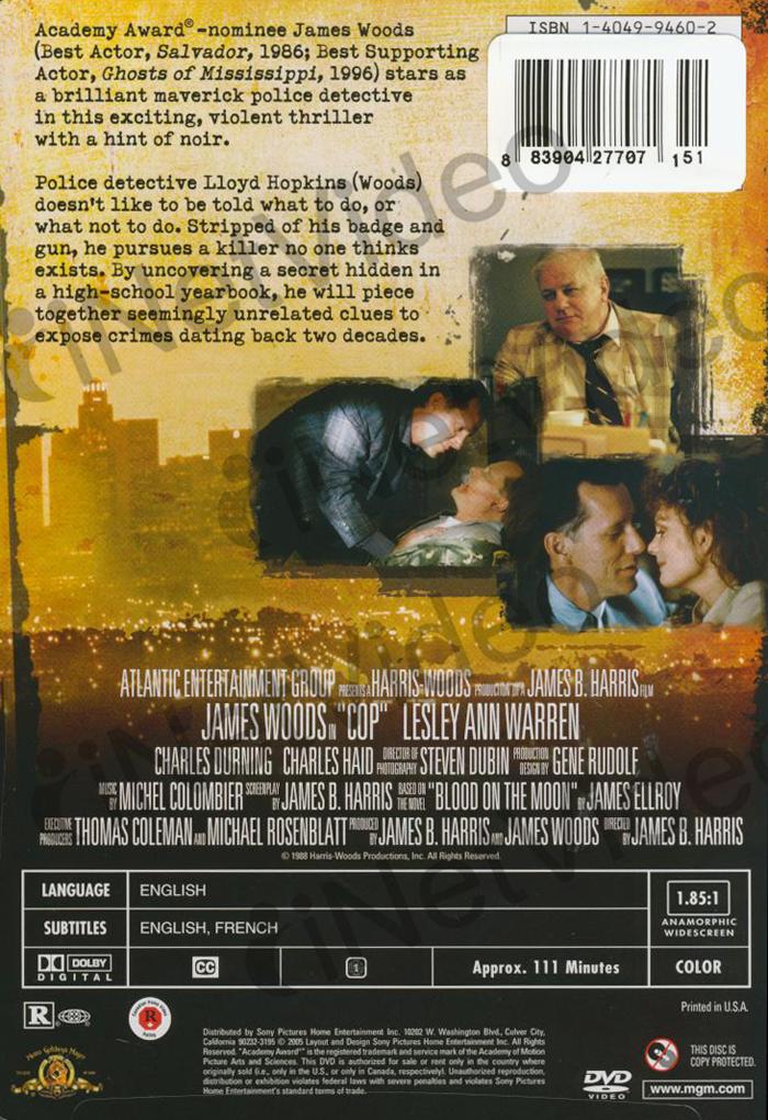 Cop (1988) New Dvd James Woods   eBay