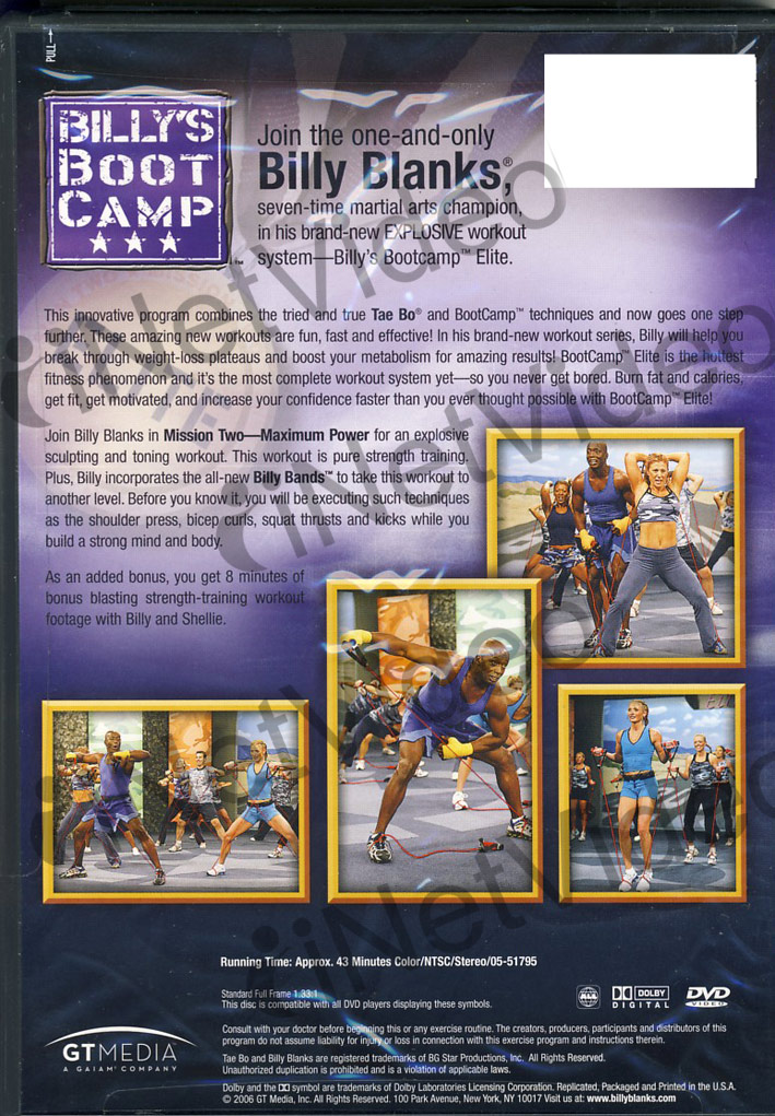 Billy s Bootcamp Elite Mission Spot Training Upper Body Movie HD free download 720p