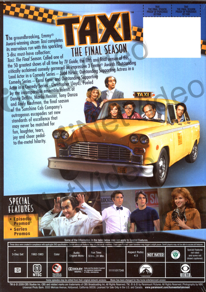 taxi the final season boxset region 1 dvd ebay. Black Bedroom Furniture Sets. Home Design Ideas
