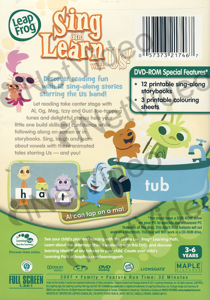Amazon.com: LeapFrog: Sing and Learn With Us!: John ...