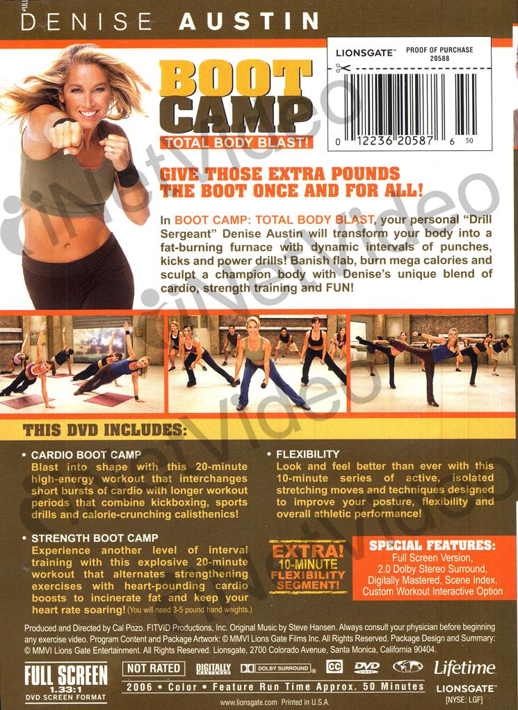 denise austin boot camp total body blast new dvd ebay. Black Bedroom Furniture Sets. Home Design Ideas