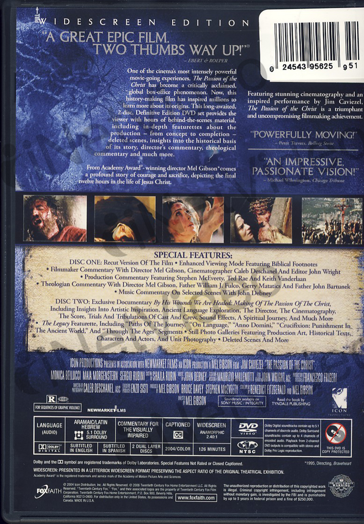 The Definitive Ranking Of Mary Kate And Ashley Olsen S: THE Passion OF THE Christ Definitive Edition Region 1 DVD