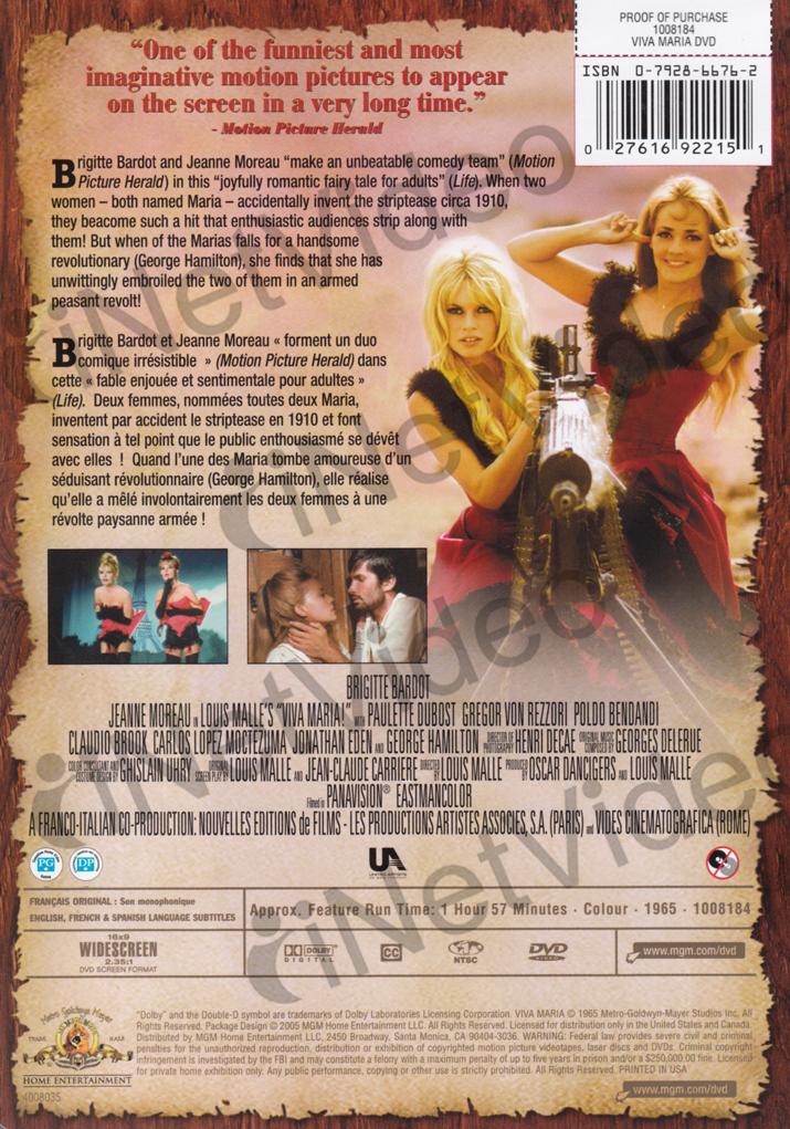 VIVA-MARIA-MGM-BILINGUAL-DVD thumbnail 2