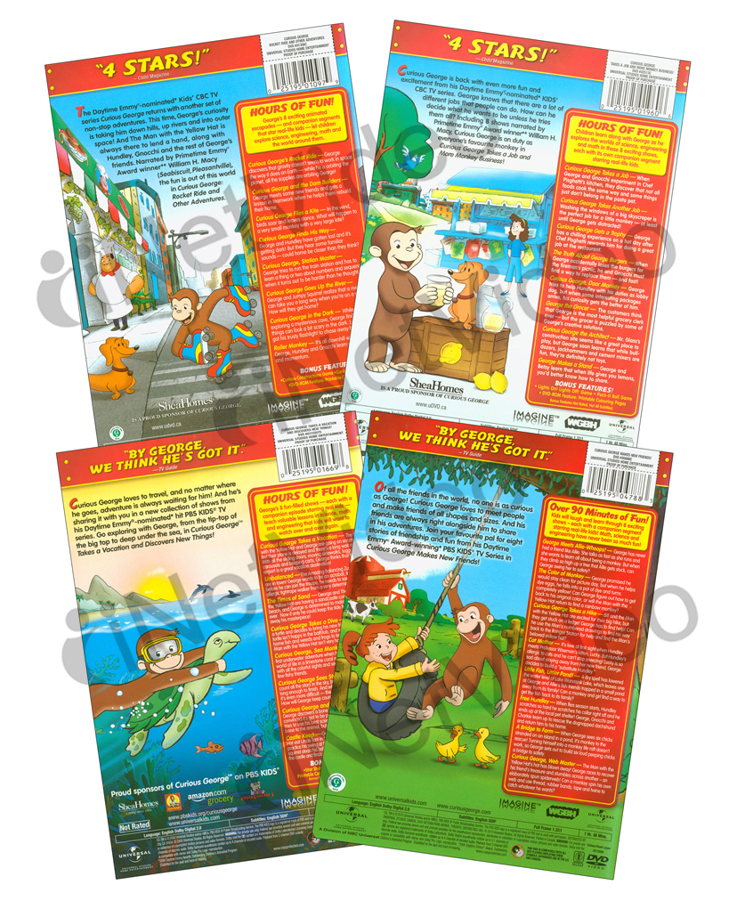 curious george collection 2 rocket ride and new dvd ebay