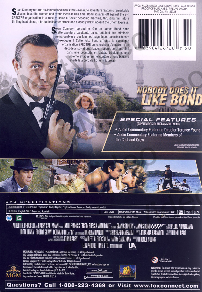 from russia with love black cover bilingual new dvd ebay