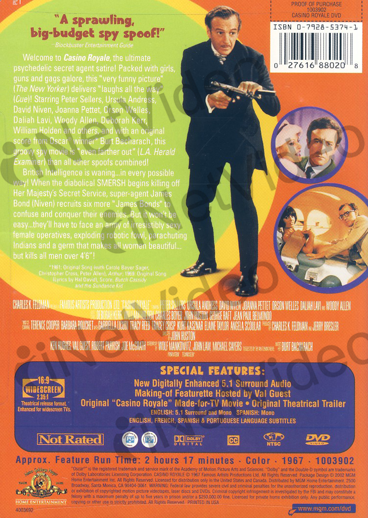 Casino Royale 1967 New DVD Peter Sellers on PopScreen