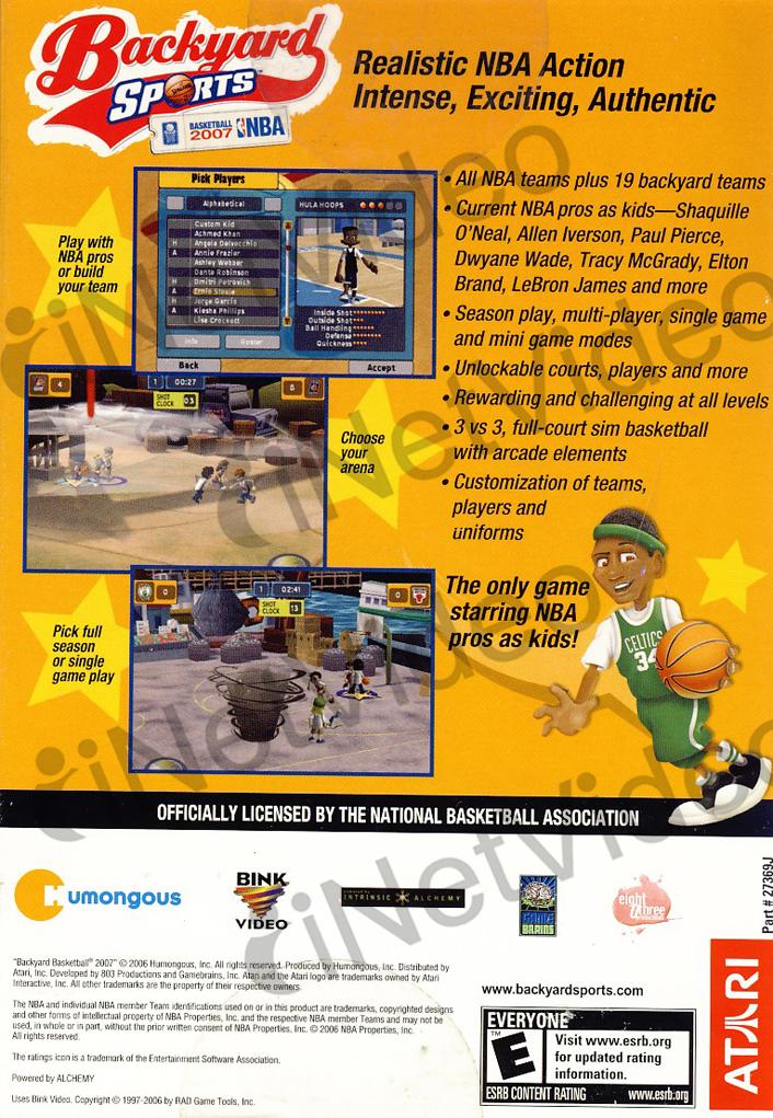 backyard sports basketball 2007 orange cover new pc 742725273696